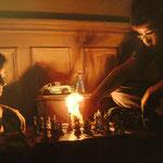 2009/ El juego, 130 x 96 cm. óleo sobre tela