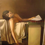"2006/ ""En la Tina"", oil on canvas, 150 x 120 cm. Avandoned"