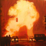 """Explosion"" Acrilic on canvas,  40 x 40 cm. 2004."