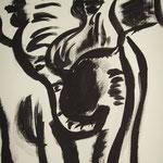 Elefant, Tusche, A4