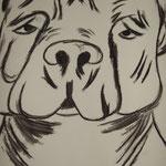 Hundegesicht, Tusche, A4