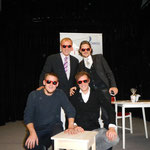 Unser Dream-Team: Christoph Gut, SR Erich Pavlik, BL Thomas Raschbach, Lukas Schwärz