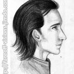 """Tom Hiddleston / Loki Study #1"" - Pencil & black colored pencil."
