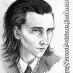"""Tom Hiddleston / Loki Study #2"" - Pencil & black colored pencil. He looks great in a suit >///u///>"