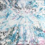 Nuée blanche : huile sur toile 50 x 50 cm