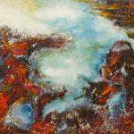 vertige : huile sur toile 65 x81 cm