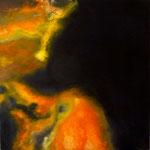 Nuée blonde : huile sut toile 60 cm x 60 cm