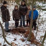 Gruppenfoto im Schnee