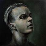 """Portrait Studie """"N""""/ Öl auf Hardfaserplatte / 30 cm x 30 cm"""