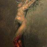 """""""Jeanne.Am Abgrund"""" / Öl auf Leinwand / 150 cm x 80 cm"""