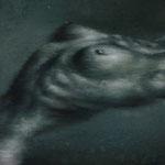 Aktstudie / Öl auf Hardfaserplatte / 15 cm x 15 cm