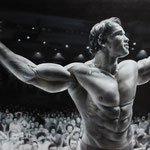 """Arnold Schwarzenegger"" - Oil on canvas"