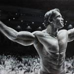 """Arnold Schwarzenegger"" für getMuscles by Sebastian Hotz / Öl auf Leinwand / 120 cm x 80 cm / www.sebastianhotz.com"