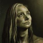 """Portrait Studie """"S""""/ Öl auf Hardfaserplatte / 30 cm x 30 cm"""