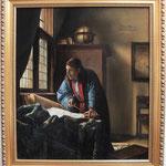 """Vermeer, """"Der Geograph"""", Öl auf Leinwand"""