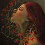 Wilde Rose / Öl auf Leinwand / 60cm  x 70cm - VERKAUFT
