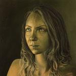 """Portrait Studie """"L""""/ Öl auf Hardfaserplatte / 30 cm x 30 cm"""