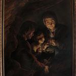 """Rubens, """"Die Alte mit dem Kohlenbecken"""", Öl auf Leinwand"""