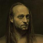 """Portrait Studie """"J""""/ Öl auf Hardfaserplatte / 30 cm x 30 cm"""