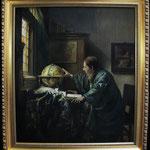 """Vermeer, """"Der Astronom"""", Öl auf Leinwand"""