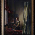 """Vermeer, """"Brieflesendes Mädchen am offenen Fenster"""", Öl auf Leinwand"""