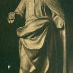 Imágen de un santo mutilada y decapitada (Convento de las Concepcionistas).