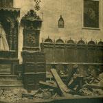 Detalle de la nave central del Convento de San Clemente.