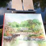 sketch Shirotori Garden 19/1/2014
