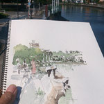 15 minutues sketch, shirotori bridge, horikawa