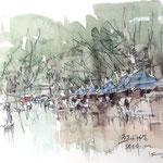 雨の朔日市、熱田神宮