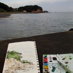 sketch at the beach, Katada, Shima