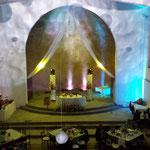 dj para bodas en Casa de las Campanas iluminación de cupula