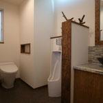 住宅にも男子用トイレはアリです