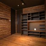 少しハードなイメージ 家具も構造用合板で製作しています