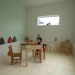 カワイイ子供部屋 壁の塗装は奥様の力作とか