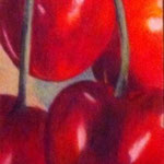 Kirschen (Farbstifte), Buchzeichen, verkauft