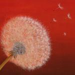 Pusteblume (Ölfarben) 30x40 cm, mit Schattenfuge