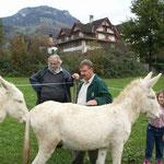 Arbeitstreffen in Goldau, Schweiz 2006. von li. nach re.: Prof. Altmann, Alois Gangl, Susi Altmann