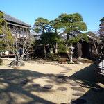 座敷前の庭の景観