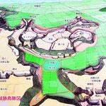 本佐倉城跡鳥瞰図