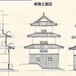 後に考証された佐倉城天守立面図