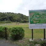 根古谷集会場前の本佐倉城全体鳥瞰図