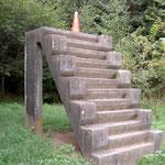連隊時代の訓練階段