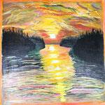 Sunset and Lake View