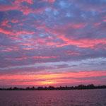 Sonnenuntergang über dem Banter See