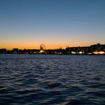 Blick über den Innenhafen von Wilhelmshaven
