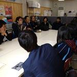 1月13日 神奈川県からコミュニティリーダーが! massmassの治田さん 山居さん 原さん 熊沢さん!