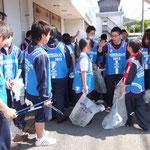 伊豆総合高校との清掃!