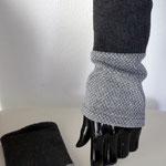 Nr. 4 Pulswärmer -  Fleece,Viscose,Cotton, Elast.  keine Wolle, 30 Grad fein --- 20.-€     Passt zu Schal Nr. 4