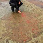 Felszeichnungen aus der Bronzezeit in Hästholmen